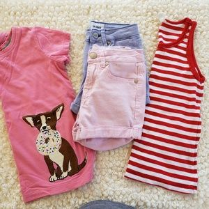 Girl's Lot Shorts Tops Size 8 Hannah Andersson
